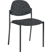 Global Custom Comet Stacking Reception Chair without Arms, Carbon, Premium Grade