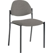 Global Custom Comet Stacking Reception Chair without Arms, Pewter, Ultra-Premium Grade