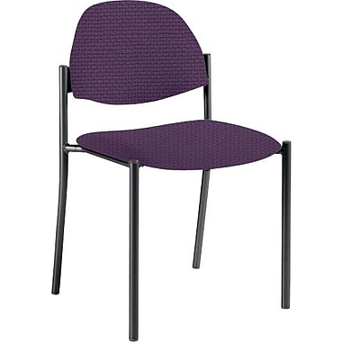 Global Custom Comet Stacking Reception Chair without Arms, Amethyst, Ultra-Premium Grade