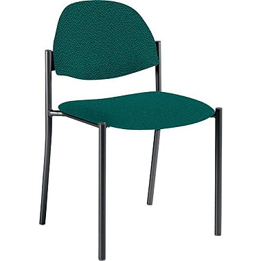 Global Custom Comet Stacking Reception Chair without Arms, Hunter, Ultra-Premium Grade