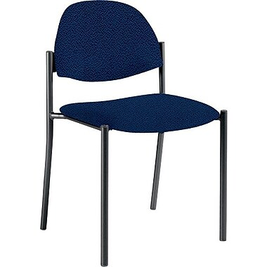 Global Custom Comet Stacking Reception Chair without Arms, Sapphire, Ultra-Premium Grade