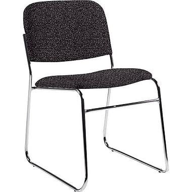 Global Custom Chrome Stack Chair, Grey, Premium Grade