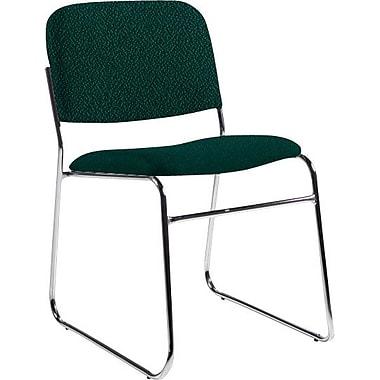 Global Custom Chrome Stack Chair, Teal, Premium Grade