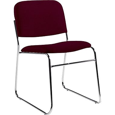 Global Custom Chrome Stack Chair, Vermilion, Premium Grade