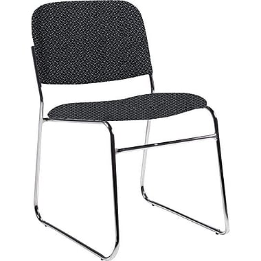 Global Custom Chrome Stack Chair, Stone, Premium Grade