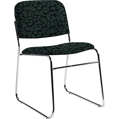 Global Custom Chrome Stack Chair, Lagoon, Premium Grade