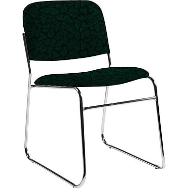 Global Custom Chrome Stack Chair, Cypress, Premium Grade