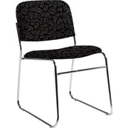 Global Custom Chrome Stack Chair, Carbon, Premium Grade