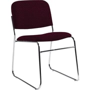 Global Custom Chrome Stack Chair, Cherry Field, Ultra-Premium Grade