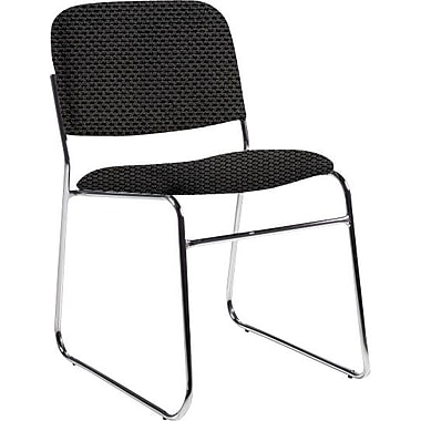 Global Custom Chrome Stack Chair, Thunderstorm, Ultra-Premium Grade
