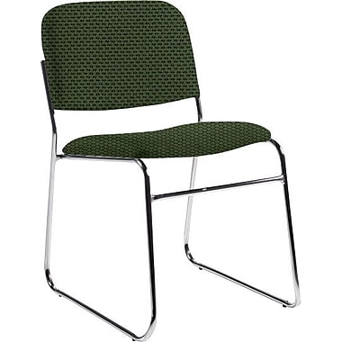 Global Custom Chrome Stack Chair, Leaf, Ultra-Premium Grade