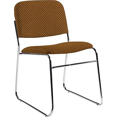 Global Custom Chrome Stack Chair, Ochre, Ultra-Premium Grade