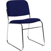 Global Custom Chrome Stack Chair, Indigo, Ultra-Premium Grade