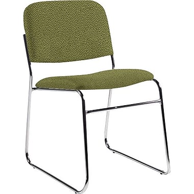 Global Custom Chrome Stack Chair, Verdant, Ultra-Premium Grade