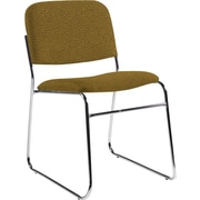 Global Custom Chrome Stack Chair, Bronze, Ultra-Premium Grade