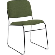 Global Custom Chrome Stack Chair, Jade, Ultra-Premium Grade