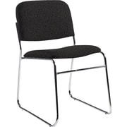 Global Custom Chrome Stack Chair, Charcoal, Ultra-Premium Grade