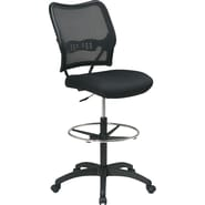 SPACE® Air Grid™ Drafting Stool with Mesh Seat, Black