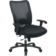 Office Star SPACE® Big and Tall Air-Grid™ Mesh Back Task Chair with Mesh Seat, Black