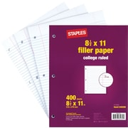 Staples Filler Paper, College Ruled