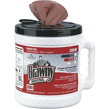Brawny® Industrial Wipers, 200/Tub