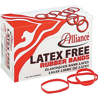 "Alliance Orange Latex-Free Rubber Bands , #64 (3 ½"" x 1/4""), 1 lb. Box"