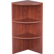 Alera® Valencia Upper End Cap Bookcase, 2 Shelves, Medium Cherry