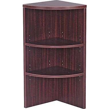 Alera Valencia Upper End Cap Bookcase, 2 Shelves, Mahogany
