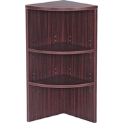 Alera® Valencia Upper End Cap Bookcase, 2 Shelves, Mahogany