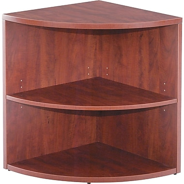 Alera® Valencia Lower End Cap Bookcase, 2 Shelves, Medium Cherry