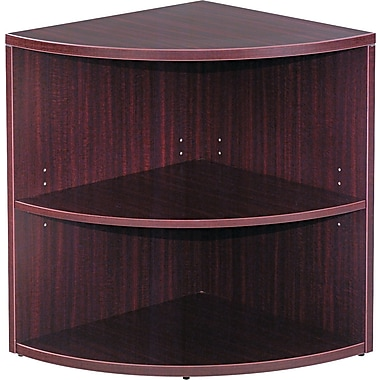 Alera Valencia  Lower End Cap Bookcase, 2 Shelves, Mahogany