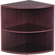 Alera® Valencia  Lower End Cap Bookcase, 2 Shelves, Mahogany