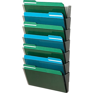 Staples Legal Size, 7 Pocket Files, Black