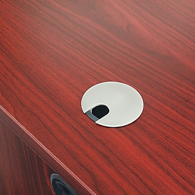 basyx™by HON BW Desk Grommet Cover, Brushed Nickel