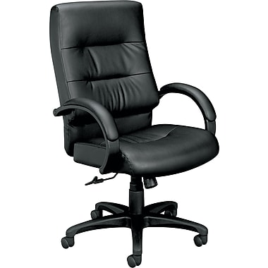 basyx™ by HON VL691 Bonded Leather Executive High-Back Chair, Black