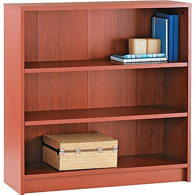 HON® 1870 Series Wood Laminate Bookcases - 3-Shelf, Henna Cherry