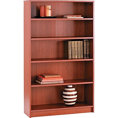 HON® 1870 Series Wood Laminate Bookcases - 5-Shelf, Henna Cherry