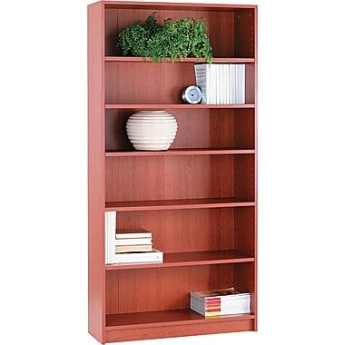 HON® 1870 Series Wood Laminate Bookcases - 6-Shelf, Henna Cherry