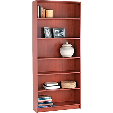 HON® 1870 Series Wood Laminate Bookcases - 6-Shelf, 84in., Henna Cherry