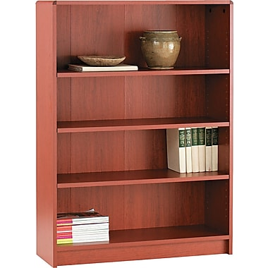 HON® 1890 Series Wood Laminate Bookcases - 4-Shelf, Henna Cherry