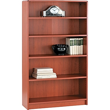 HON® 1890 Series Wood Laminate Bookcases - 5-Shelf, Henna Cherry