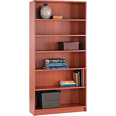 HON® 1890 Series Wood Laminate Bookcases - 6-Shelf, 72in., Henna Cherry