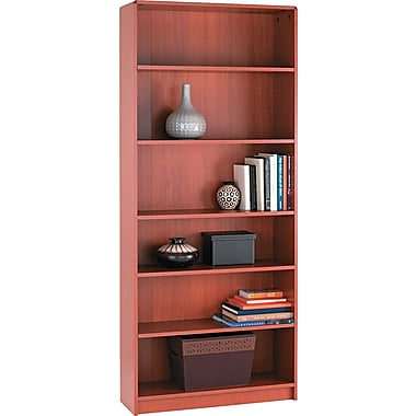 HON® 1890 Series Wood Laminate Bookcases - 6-Shelf, 84in., Henna Cherry