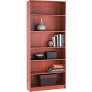 HON® 1890 Series Wood Laminate Bookcases - 6-Shelf, 84, Henna Cherry