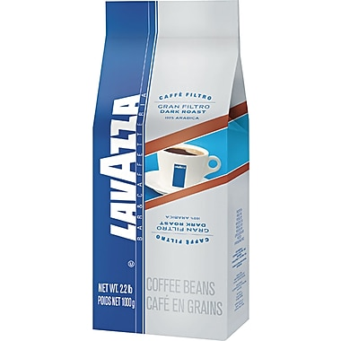Lavazza® Gran Filtro Dark Roast Whole Bean Coffee, Regular, 2.2 lb. Bag, 6/Pack