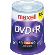 Maxell DVD+R, 4.7GB, 120-Minute, 100/Pk