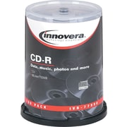 Innovera CD-R Discs, 52x, 700MB/80 Minute, Spindle, Silver, 100/Pk
