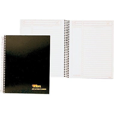 TOPS® JEN Action Planner, White, Special Ruled, 8 1/2in. x 6 3/4in., 84 Sheets