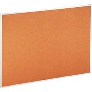 "Universal Cork Bulletin Board with 1/2"" Satin Finish Aluminum Frame, 48"" x 36"" (UNV43614)"