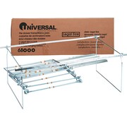 "Universal® Screw-Together Hanging Folder Frame, Stainless Steel, Silver, Legal, 24-27"" Long, 6/Bx (UNV68000)"